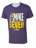LSU Men's Mike Seven Tri-Blend Tee - Purple