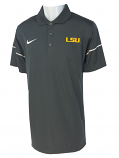 Nike LSU Men's Dri-Fit Team Issue Polo - Anthracite