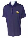 Antigua LSU Men's Draft Performance Polo - Purple & White