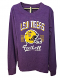 LSU Child's Long Sleeve Blend Helmet Logo T-Shirt - Purple