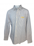 LSU Antigua Men's Affiliate Button Down Long Sleeve Shirt - White and Purple