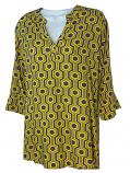Purple and GoldWomen's Boutique Game Day3/4 Sleeve Fran Top - Purple and Gold