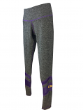 LSU Women's Grey & Mesh Leggings - Grey & Purple