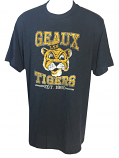 LSU Men's 47 Brand NAVY Beanie Tiger Scrum T-Shirt - Dark Navy