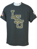 LSU Bayou Men's SEC Military Cotton T-Shirt - Charcoal