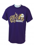 LSU Men's Bayou Rip Cotton Baseball T-Shirt - Purple
