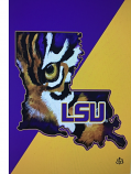 "LSU Eye of the Tiger Garden Flag by Stacey Blanchard - 13"" x18"""