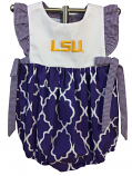 LSU Girl's Infant Bubble Onesie - Purple and White