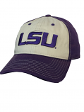The Game LSU Vintage Cotton Twill Hat - Khaki and Purple