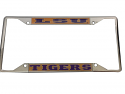 LSU Tigers Domed Chrome License Plate Frame