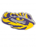 LSU Tiger Eye Acrylic-Metallic Auto Emblem