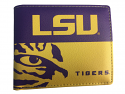LSU NCAA Bi-Fold Wallet - Purple and Gold
