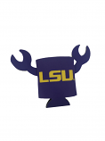LSU Crawfish Can Coozie - Purple
