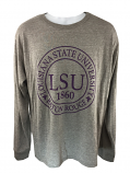 LSU Tigers Classic Fit League Twisted Tri-Blend Long Sleeve T-Shirt - Grey