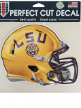 "Wincraft LSU Tigers Clear Perfect Cut Helmet Decal 8"" x 8"""