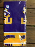"LSU Tigers Plastic Logo Table Cloth 54"" x 108"" - Purple and Gold"