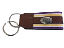 LSU Tigers Concho and Leather Key Chain