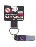 LSU Tigers Can Opener Nail Saver Key Chain
