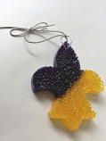 LSU Tigers Fleur de Lis Air Freshener - Purple and Gold