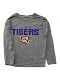 LSU Tigers Boy's Long Sleeve Dri Tek Tee - Grey
