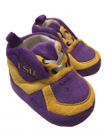 LSU Tigers Baby Plush Tennis Shoe Slippers - Purple and Gold