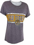 LSU Tigers 47 Brand Women's Foil Retro Tiger Tri-Blend Tee - Purple