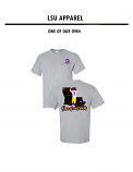 LSU Licensed Joe Burrow Bayou Jeaux Burreaux #9 One of Our Own Short Sleeve T-Shirt - Grey