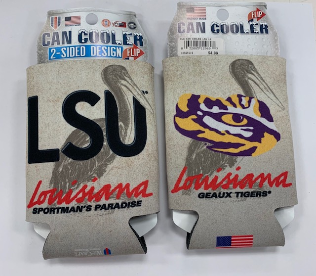 LSU Tigers Louisiana Double Sided Coozie