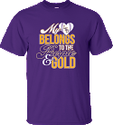 LSU Bayou Women's Purple My Heart Baseball Tee
