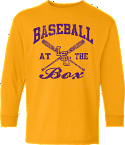 LSU Bayou Youth Gold Long Sleeve At The Box Baseball Tee