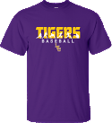 LSU Bayou Men's Purple Play Baseball Tee
