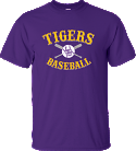 LSU Bayou Men's Purple Vintage Cross Bats Baseball Tee
