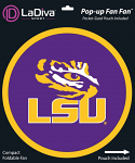LSU Tigers Pop Up Fan with Pocket-Sized Pouch