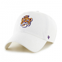 LSU '47 Brand White Clean Up Adjustable Slouch Vintage Beanie Tiger Hat