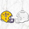 LSU Die Cut Helmet Bag Tag