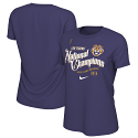 LSU Nike WOMEN'S College Playoff 2019 National Championship CELEBRATION Parade T-Shirt - Purple
