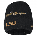 LSU Nike College Playoff 2019 National Championship CELEBRATION CUFFED KNIT HAT - Black