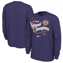 LSU Nike College Playoff 2019 National Champions CELEBRATION LONG SLEEVE T-Shirt - Purple