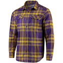 LSU Columbia Men's Flare Gun Long Sleeve Flannel Shirt - Purple and Gold