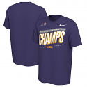 LSU Nike College Football Playoff 2019 PEACH BOWL CHAMPIONS Official Locker Room T-Shirt - Purple