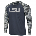 Colosseum LSU Men's Grey OHT Digi Camo Performance Long Sleeve Tee
