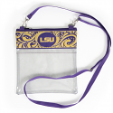 LSU Paisley Cross Body Purse - Clear