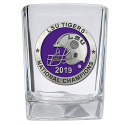 LSU Tigers National Champions SQUARE SHOT GLASS with Pewter Concho