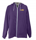 LSU Women's Purple Fullzip Summit Kickoff Collection Rain Jacket