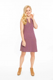 Game Day Women's Purple & Gold Pattern Shift Dress