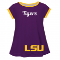 LSU Girl's Purple & Gold Big Logo Laurie Swing Top - 4 Child only
