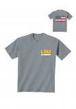 LSU Men's Grey All-American Patriotic Fighting Tigers Cotton T-Shirt