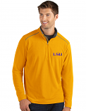 Antigua LSU Men's Gold Quarter-Zip Pullover Fleece Jacket