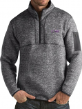 Antigua LSU Men's Heather Grey Fortune Pullover Jacket