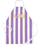 LSU Tigers Striped Vintage Tailgate Apron - Purple, Gold and White
